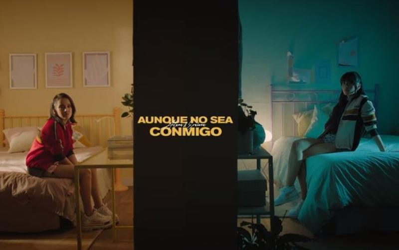 Aitana y Evaluna unen sus voces en 'Aunque no sea conmigo' (+video)