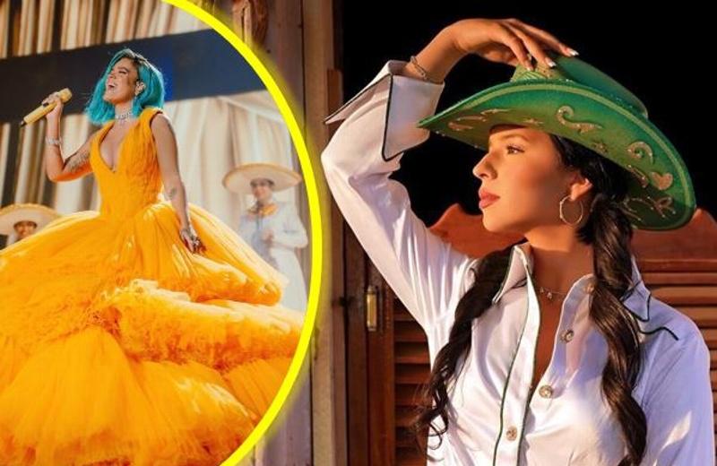 ¿Enemistad?... Ángela Aguilar critica a Karol G tras cantar con mariachi (+video)